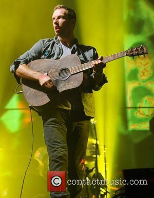 Coldplay The 2011 Glastonbury Music Festival held at Worthy Farm in Pilton - Day 2 - Performances Somerset, England -...