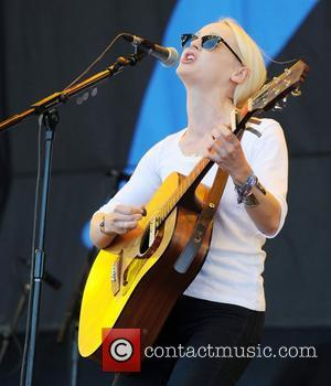 Laura Marling The 2011 Glastonbury Music Festival held at Worthy Farm in Pilton - Day 2 - Performances Somerset, England...