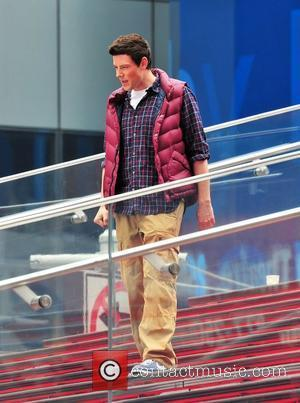 Cory Monteith on the set of 'Glee' in New York City New York City, USA – 25.04.11