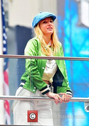 Heather Morris on the set of 'Glee' in New York City New York City, USA – 25.04.11