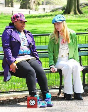 Amber Riley and Heather Morris
