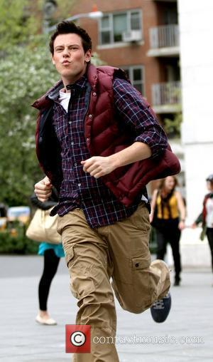 Cory Monteith Cast of 'Glee' is seen filming in Washington Square Park  New York City, USA - 29.04.11