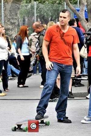 Mark Salling On location for 'Glee' in Manhattan's Washington Square Park New York City, USA - 29.04.11