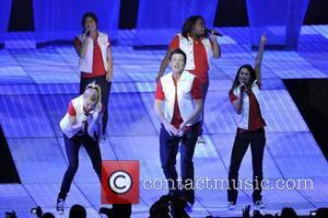 The cast of Glee perform live at the o2 arena London, England - 25.06.11