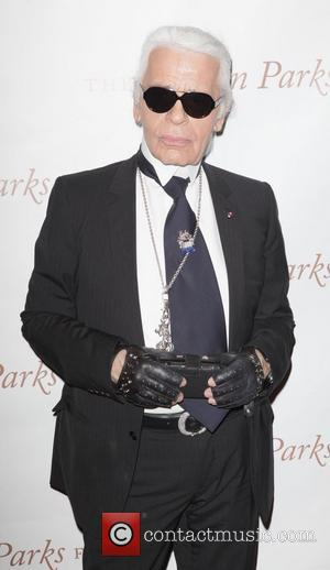 Karl Lagerfeld at the Gordon Parks Foundation awards dinner and auction at Gotham Hall New York City, USA - 01.06.11