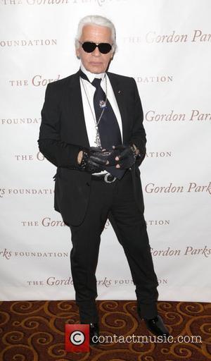 Karl Lagerfeld and Gordon Parks