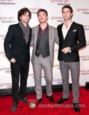 Penn Badgley, Chace Crawford and Ed Westwick