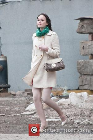 Leighton Meester 'Gossip Girl' filming in Greenpoint, Brooklyn New York City, USA - 24.02.11