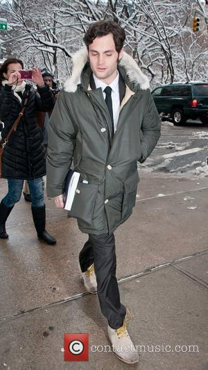 Penn Badgely on the set of Gossip Girl filmed in the Upper East Side of Manhattan. New York City, USA...