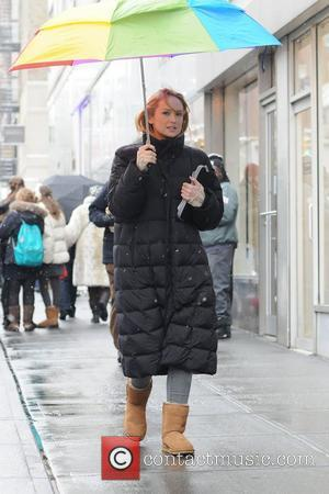 Kaylee DeFer on the film set of Gossip Girl in Manhattan. New York City, USA - 25.01.11