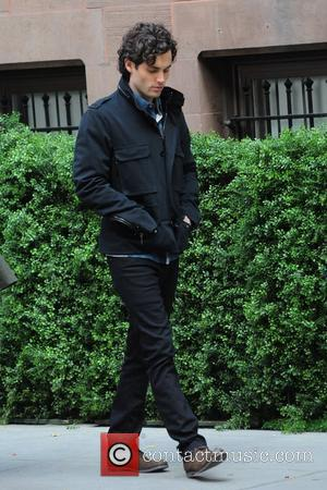 Penn Badgley on the set of ' Gossip Girl ' filming on location in Manhattan New York City, USA -...