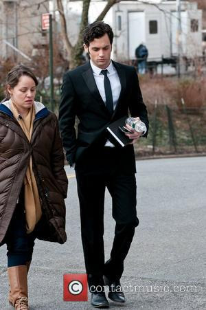 Penn Badgley on the set of 'Gossip Girl' on the Upper West Side  New York City, USA - 08.03.11