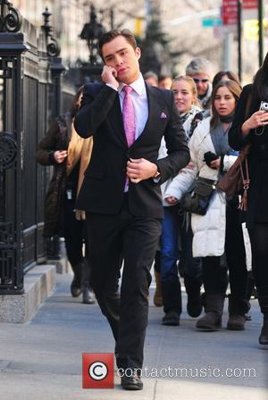 Ed Westwick on the set of Gossip Girl in Manhattan  New York City, USA - 16.02.11