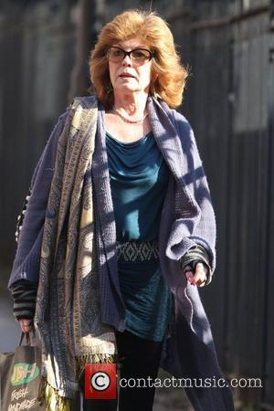 Rula Lenska is seen arriving at Granada Studios to film 'Coronation Street' Manchester, England - 07.03.11