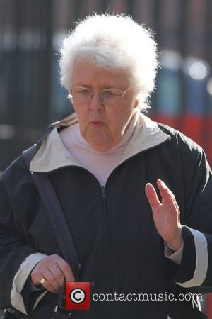 Stephanie Cole is seen arriving at Granada Studios to film 'Coronation Street' Manchester, England - 07.03.11