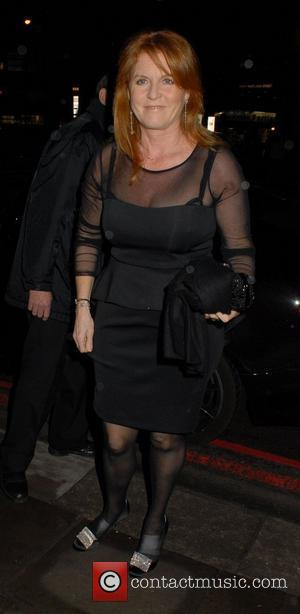 Sarah Ferguson can be seen wearing plasters on the top of her feet through her tights Great Ormond Street Children's...