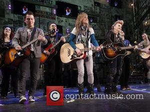 Melissa Etheridge and cast Melissa Etheridge's first night as St. Jimmy in the Broadway musical production of 'Green Day's American...