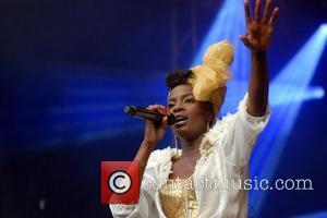 Shingai Shoniwa of Noisettes,  performing on stage during Greenwich Summer Sessions at the Old Royal Naval College in Greenwich....