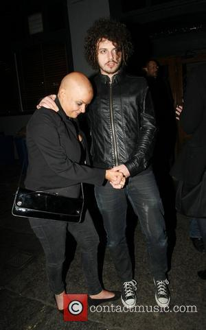 Gail Porter and boyfriend Johnny Davies leaving the Groucho Club in Soho London, England - 10.02.11