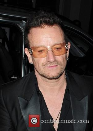 Bono from U2  Stella McCartney 40th birthday party at The Groucho Club London, England - 14.09.11