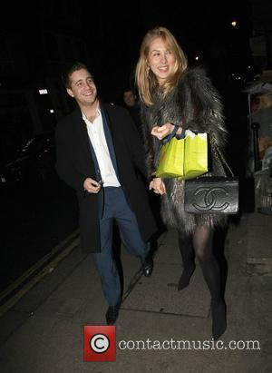 Tyrone Wood leaving the Groucho club with his girlfriend London, England - 25.01.11