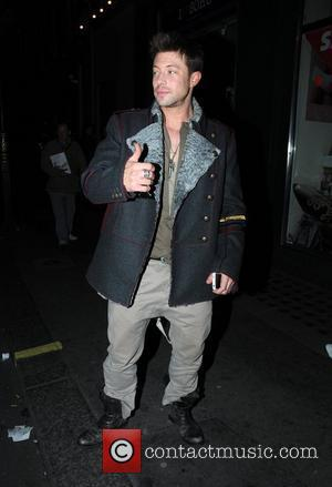 Duncan James at the Groucho club in Soho London, England - 19.03.11