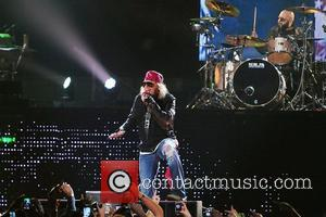 Axl Rose of Guns N' Roses performs at the American Airlines Arena during his North American Tour  Miami, Florida...