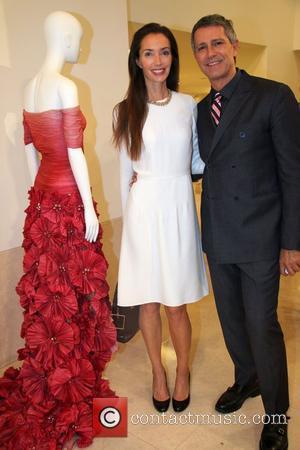 Olivia Chantecaille and Carlos Souza  The book launch of '100 Unforgettable Dresses' by Hal Rubenstein, held at Valentino's New...