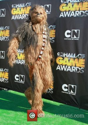Chewbacca from Star Wars Cartoon Network 'Hall of Game Awards' held at The Barker Hanger  Santa Monica, California -...