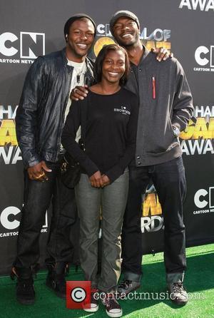 Edwin Hodge,sister Briana Hodge, Aldis Hodge Cartoon Network 'Hall of Game Awards' held at The Barker Hanger  Santa Monica,...