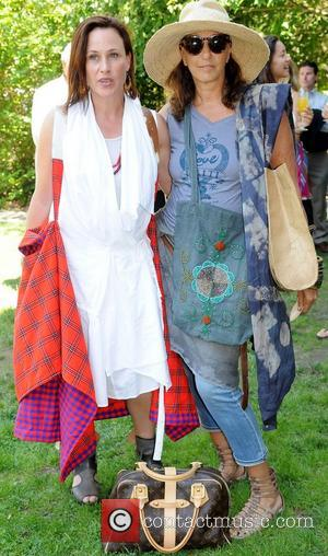 Patricia Arquette and Donna Karan,  at the Hamptons for Haiti Brunch and Cocktails at the Ross School. Bridgehampton, New...