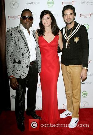 Mike Jean, Ines Ferre and DJ Cassidy celebrities attend the 'Hands for Haiti' benefit in New York City New York...