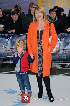 Fay Ripley and her son 'Happy Feet Two' European premiere held at the Empire Leicester Square - Arrivals London, England...