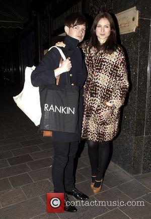 Richard Jones and Sophie Ellis-Bextor  The Harrods Shoe Salon launch - Outside Arrivals London England - 22.02.11