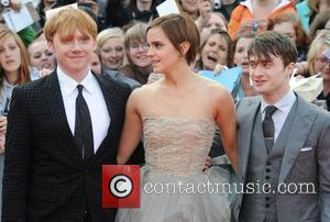 Rupert Grint, Emma Watson, Daniel Radcliffe,  Harry Potter And The Deathly Hallows: Part 2 - world film premiere held...