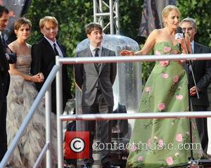 Rupert Grint, Daniel Radcliffe, Emma Watson and Jk Rowling