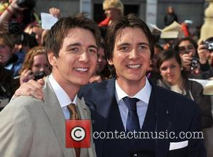 James and Oliver Phelps Harry Potter And The Deathly Hallows: Part 2 - world film premiere held on Trafalgar Square...