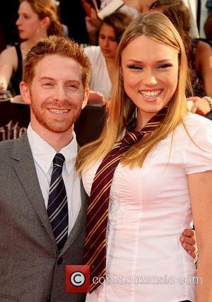 Seth Green and wife Clare Grant New York premiere of 'Harry Potter And The Deathly Hallows: Part 2' at Avery...