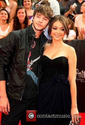 Matt Prokop and Sarah Hyland New York premiere of 'Harry Potter And The Deathly Hallows: Part 2' at Avery Fisher...