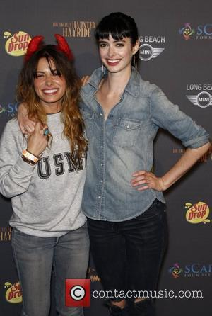 Sarah Shahi and Krysten Ritter The 3rd annual Los Angeles Haunted Hayride VIP opening night at Griffith Park Los Angeles,...