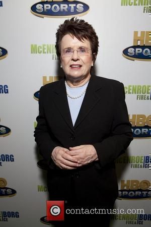 Billie Jean King HBO Sports screening of McEnroe/Borg 'Fire & Ice' held at School of Visual Arts Theater New York...