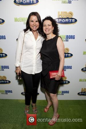 Patty Smyth and Susie Essman HBO Sports screening of McEnroe/Borg 'Fire & Ice' held at School of Visual Arts Theater...