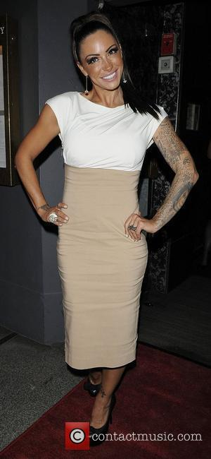 Jodie Marsh arriving at Embassy Club London for HD Brows launch party. London, England - 31.05.11