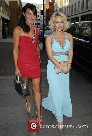 Liz Cundy and Kristina Rihanoff arriving at Embassy Club London for the HD Brows launch party. London, England - 31.05.11