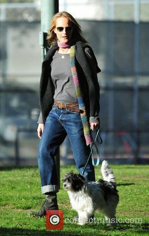 Helen Hunt walks her dog in the park Brentwood, California - 08.03.11