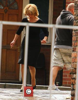 Helen Worth on the set of 'Coronation Street' Manchester, England - 06.07.11
