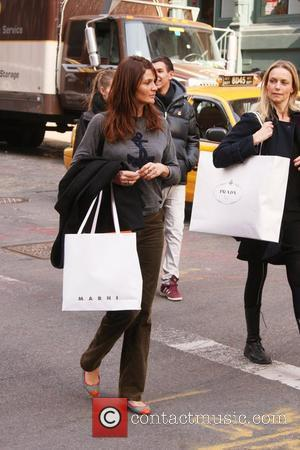 Helena Christensen and Patsy Kensit shop in Soho New York City, USA - 17.02.11