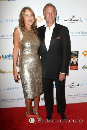 Peter Fonda and wife Portia Rebecca Crockett The American Humane Associations first annual Hero Dog Awards at The Beverly Hilton...