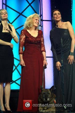 Kristin Bauer and Michelle Forbes American Humane Association Hero Dog awards presented by CESAR Canine Cuisine - Inside held at...