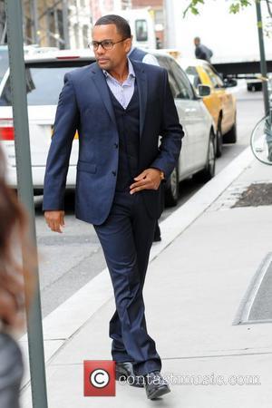 Hill Harper leaving his Manhattan Hotel New York City, USA 03.10.11